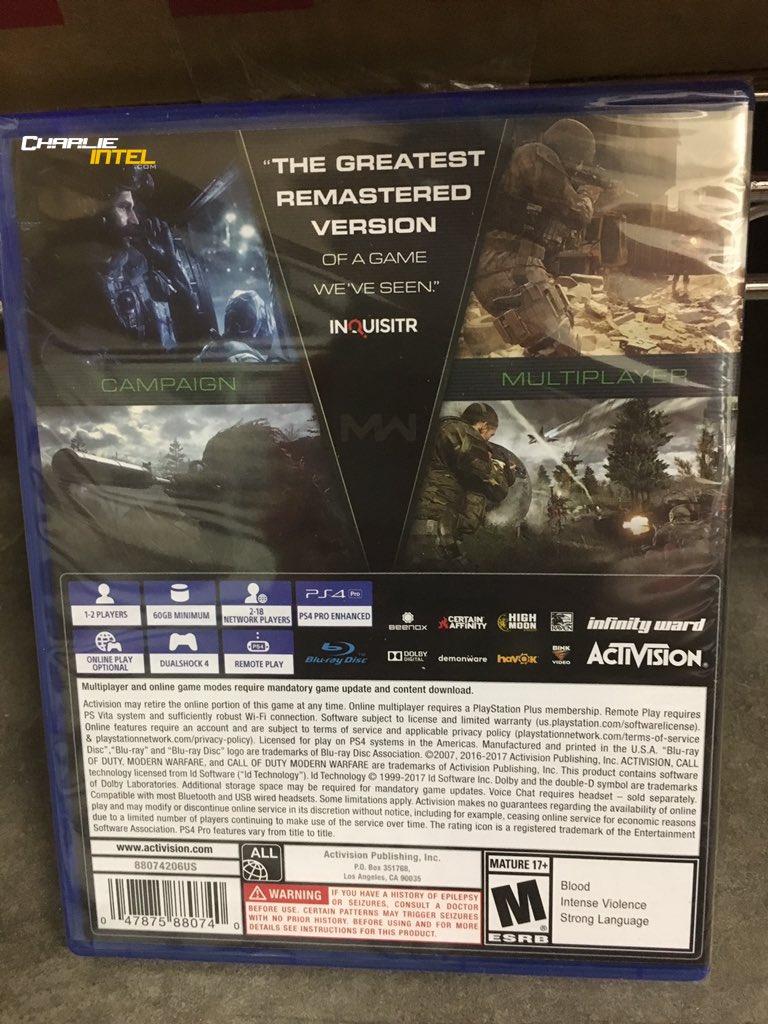 Rumor diz que CoD: Modern Warfare Remastered será lançado separadamente