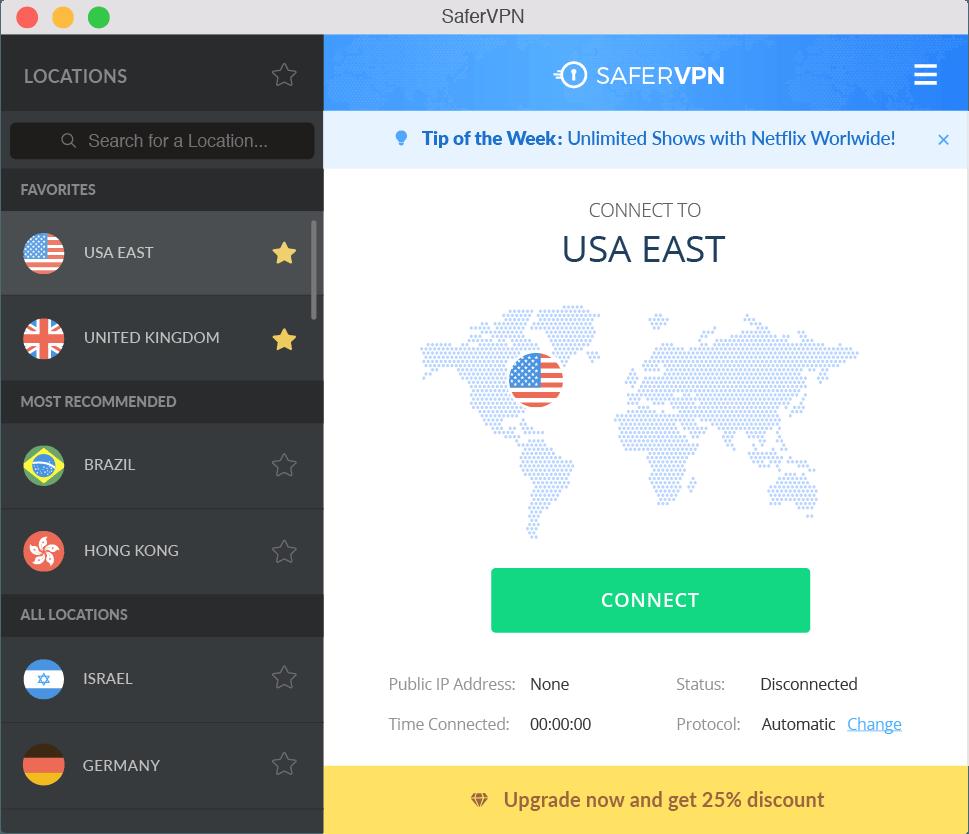 SaferVPN - Imagem 1 do software