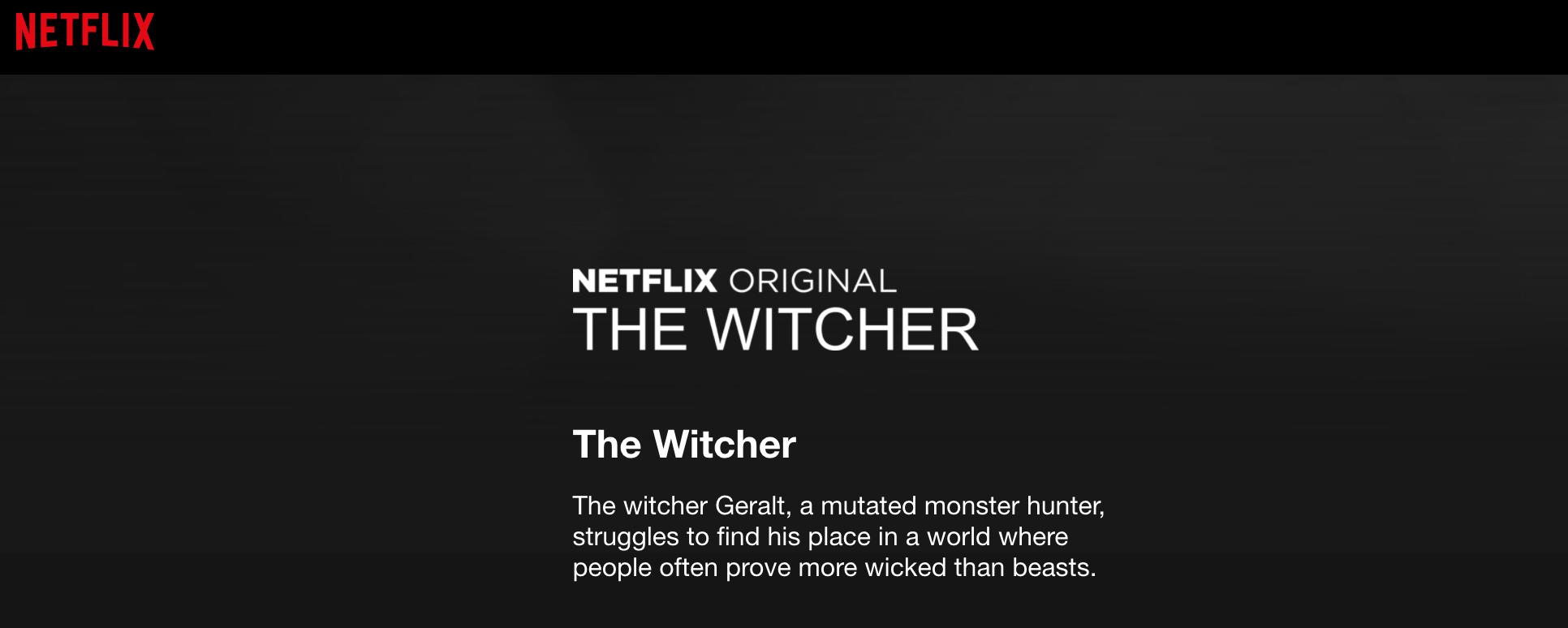 Só pra aquecer: surge a primeira sinopse da série de The Witcher na Netflix