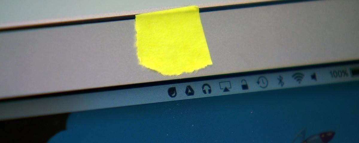 Imagem de: Segurança: cubra a câmera do seu notebook agora!