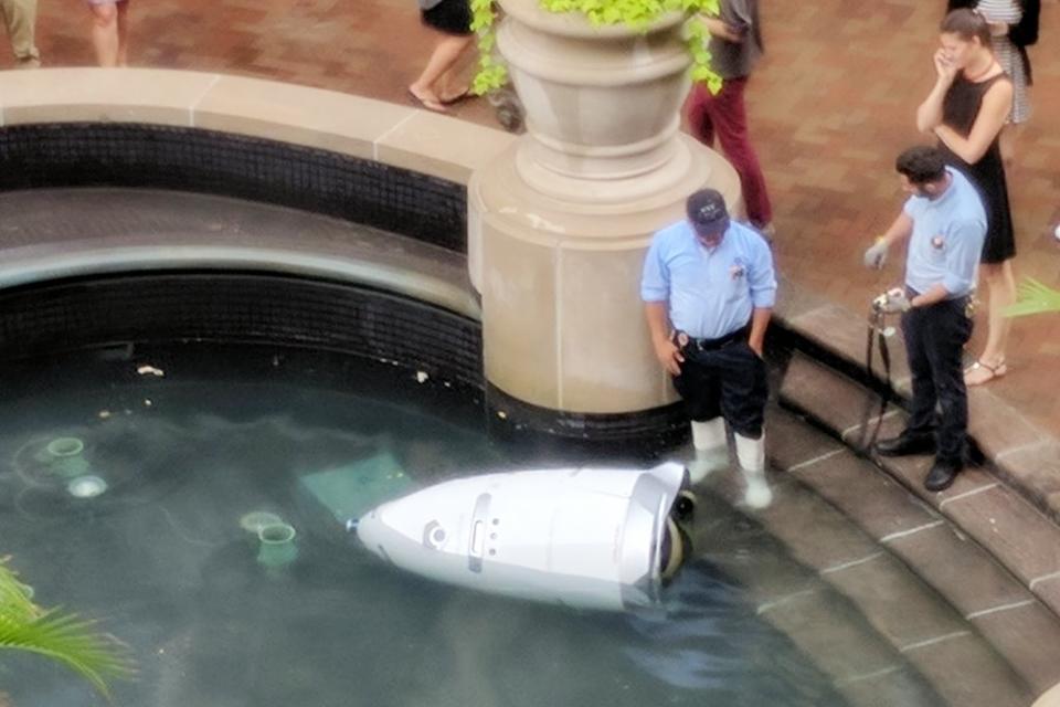 Criadores do robô-segurança 'suicida' dizem que ele só queria se refrescar