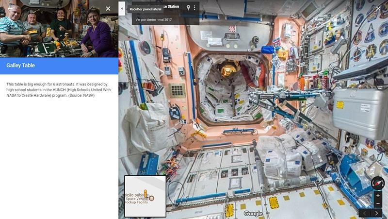 La Estación Espacial Internacional vista desde Google Street View