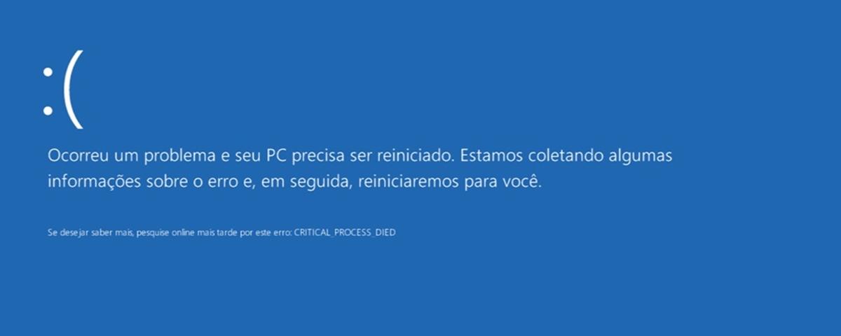 Resultado de imagem para tela azul windows 10