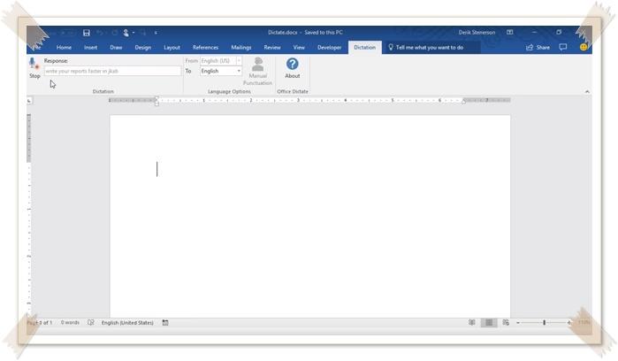 Dictate - Imagem 1 do software