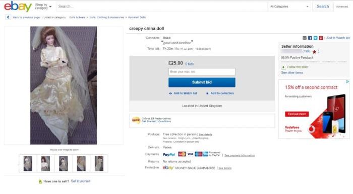 Leilão no eBay teria gerado uma guerra de lances entre investigadores paranormais (Crédito: Mercury Press)