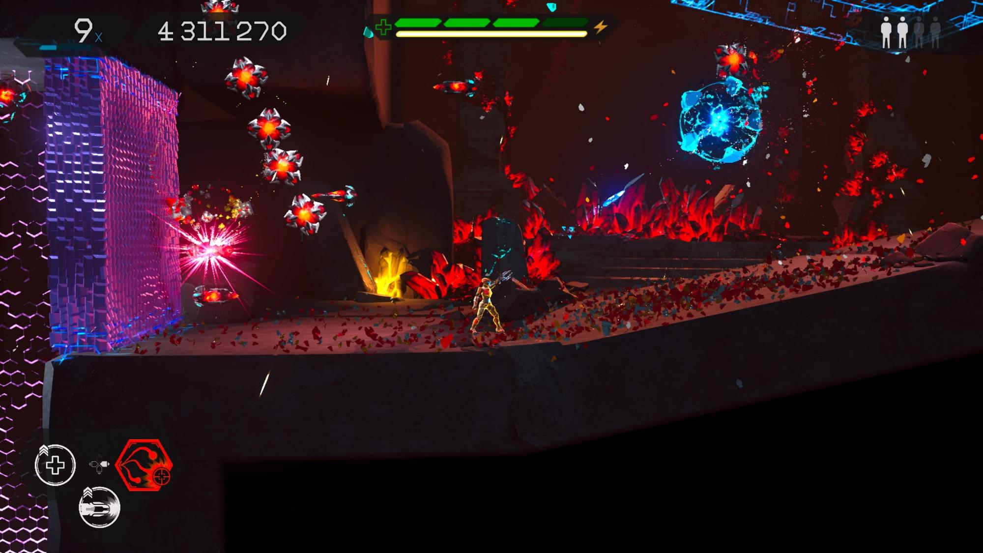 Matterfall é pura explosão de partículas na tela com uma dose de desafio