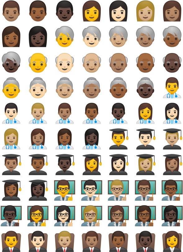 Os emojis esto de cara nova com o android 80 oreo tecmundo os emojis esto de cara nova com o android 80 oreo ccuart Images