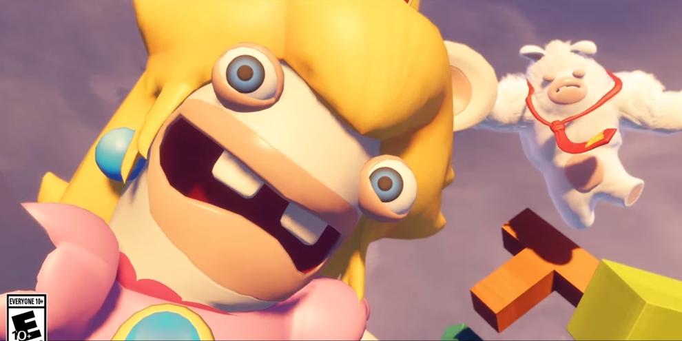 Imagem de Trailer de Mario + Rabbids mostra classe de suporte do Rabbid Peach no tecmundogames