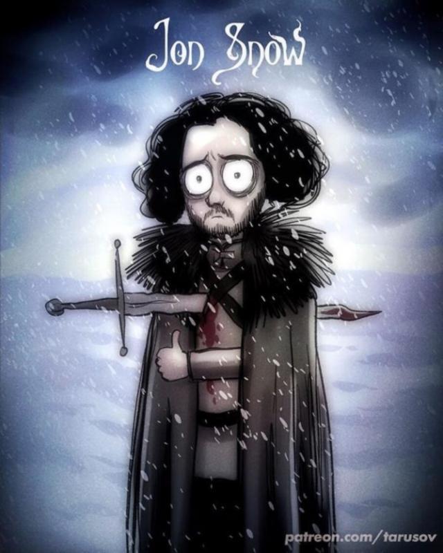 05170534249376 Ver Game of Thrones sería si fuese hecho por Tim Burton