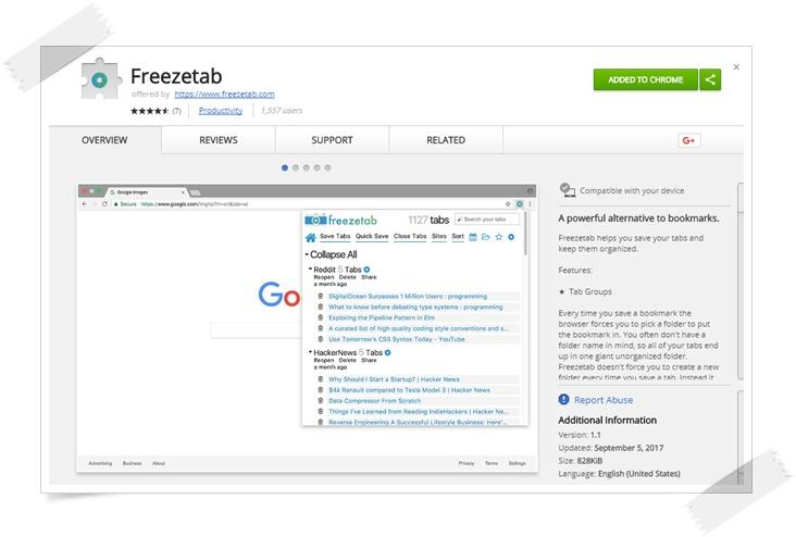 Freezetab - Imagem 1 do software