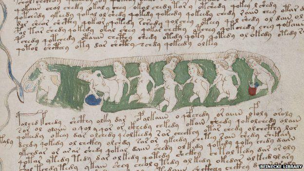 mulheres se banhando voynich