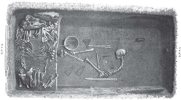 ossada de guerreira viking