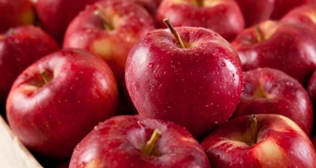 Uma maçã vermelha