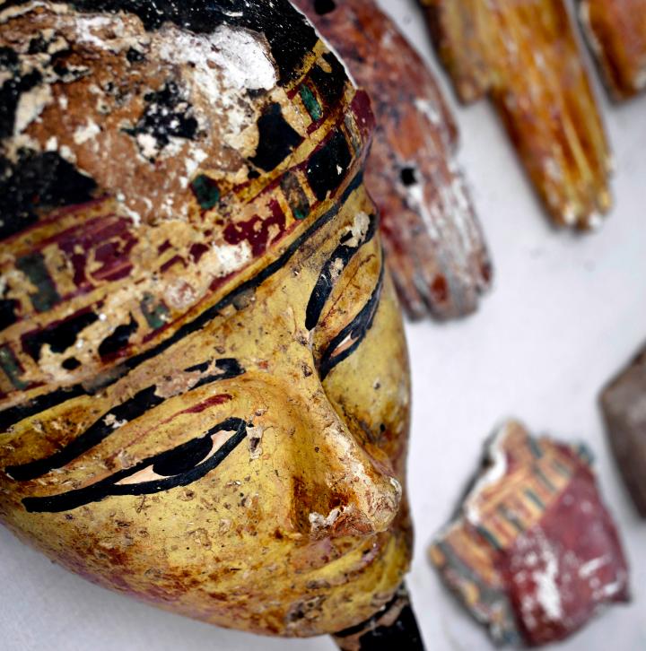 Máscara funerária egípcia