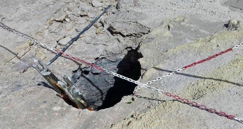 poço de lama borbulhante