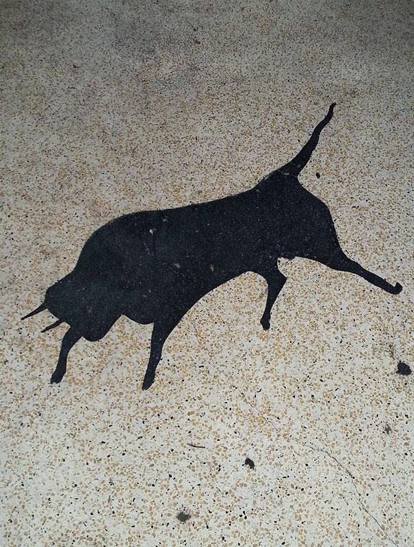 Mancha em formato de touro
