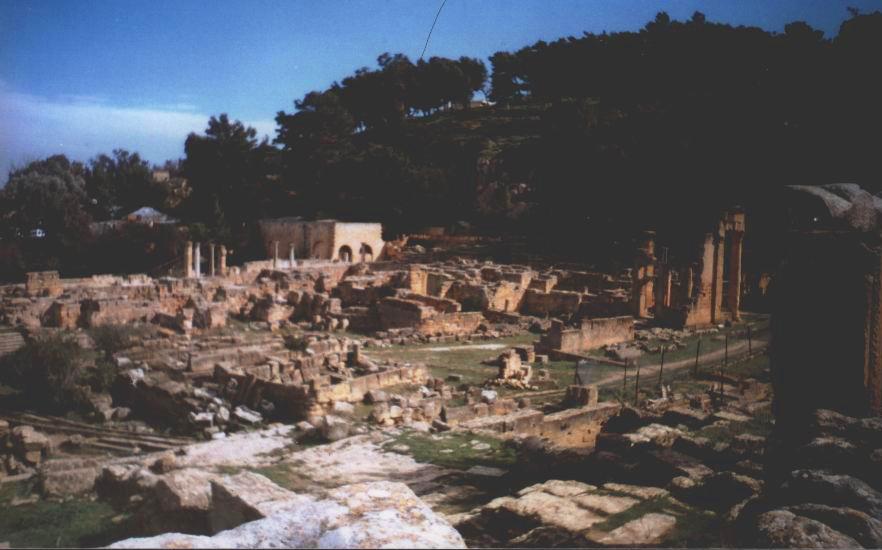 Antigas ruínas greco-romanas