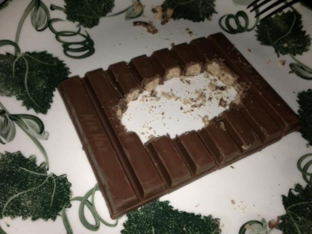 Um pedaço de bolo em um prato