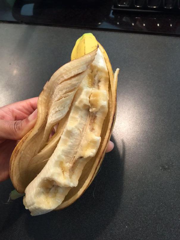 Banana meio comida