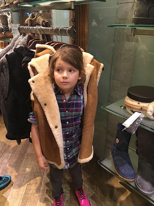 Provando roupas