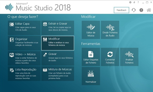 Ashampoo Music Studio 2018 - Imagem 1 do software