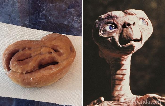 Bolinho parecido com ET