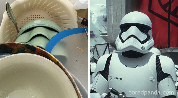 Louças iguais a stormtrooper