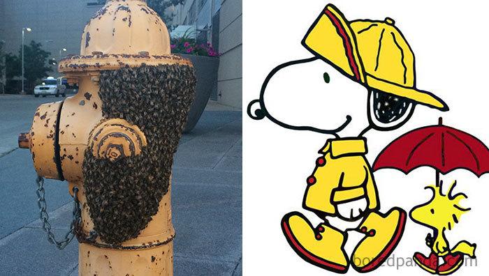 Snoopy em um hidrante