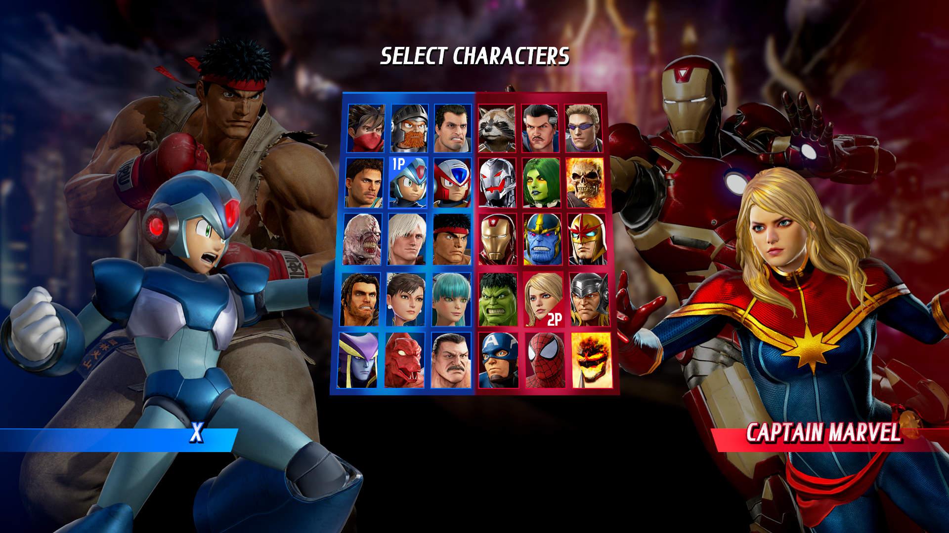 Seleção de personagens Marvel