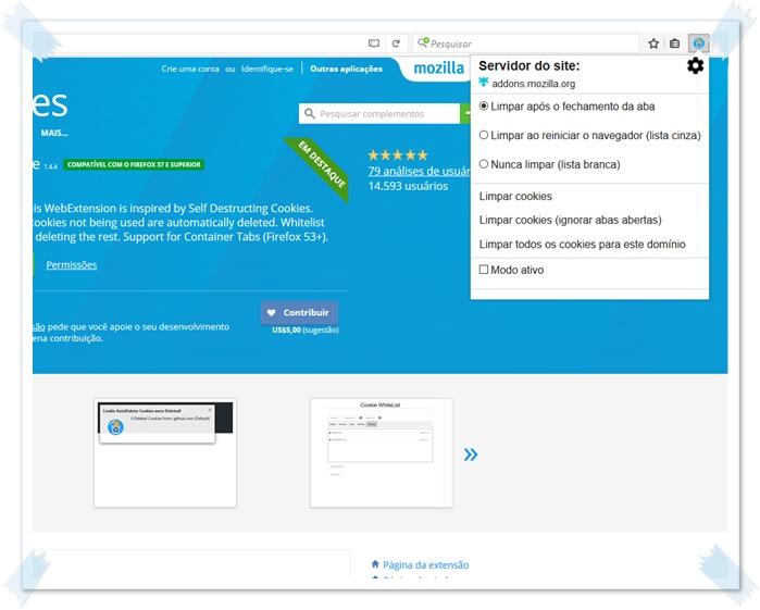 Cookie AutoDelete para Google Chrome - Imagem 1 do software