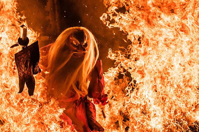 Festival do fogo no Japão