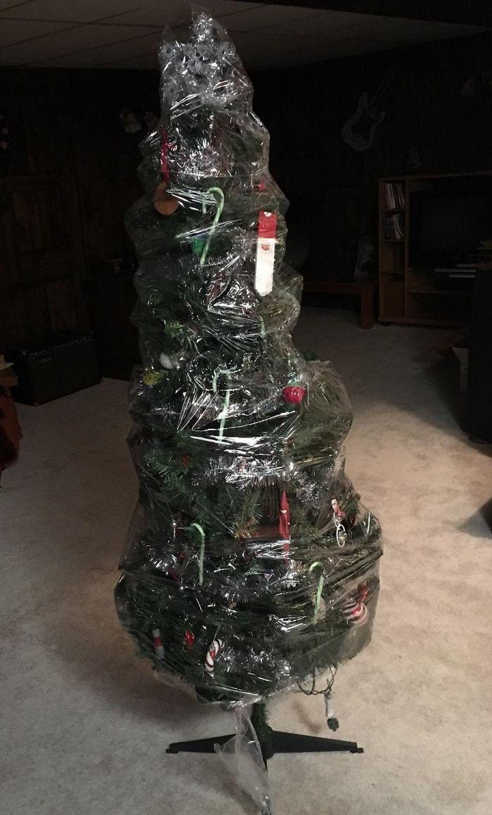 Árvore de Natal embalada