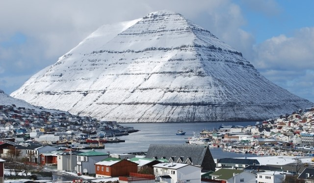 Klaksvík, nas Ilhas Faroé