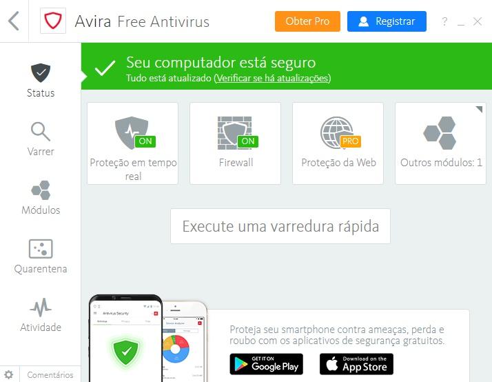 avira gratis em portugues baixaki