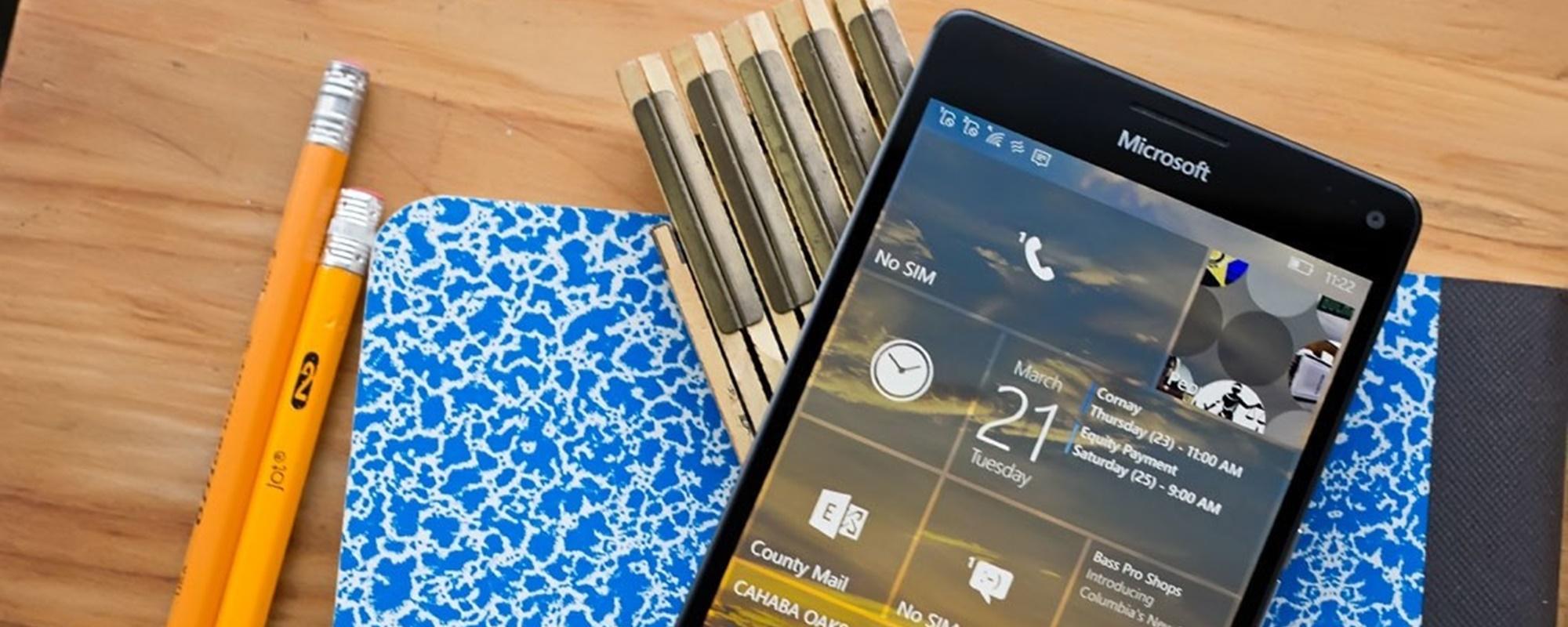 Microsoft libera atualização do Windows 10 Mobile para Insiders