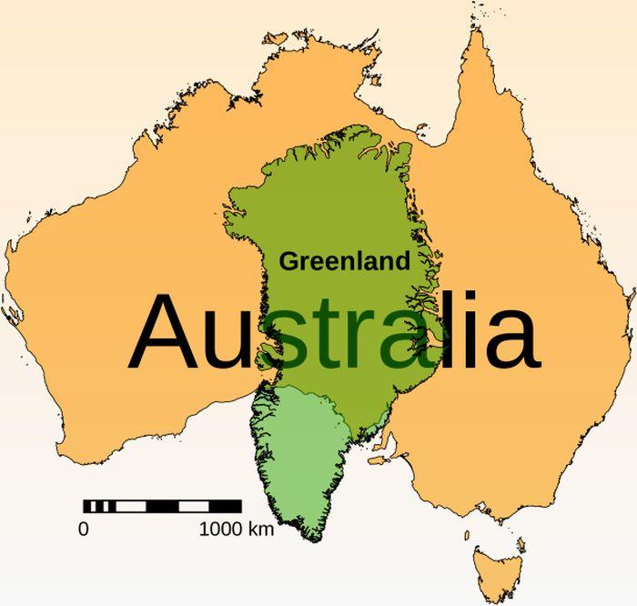 Groenlândia e Austrália