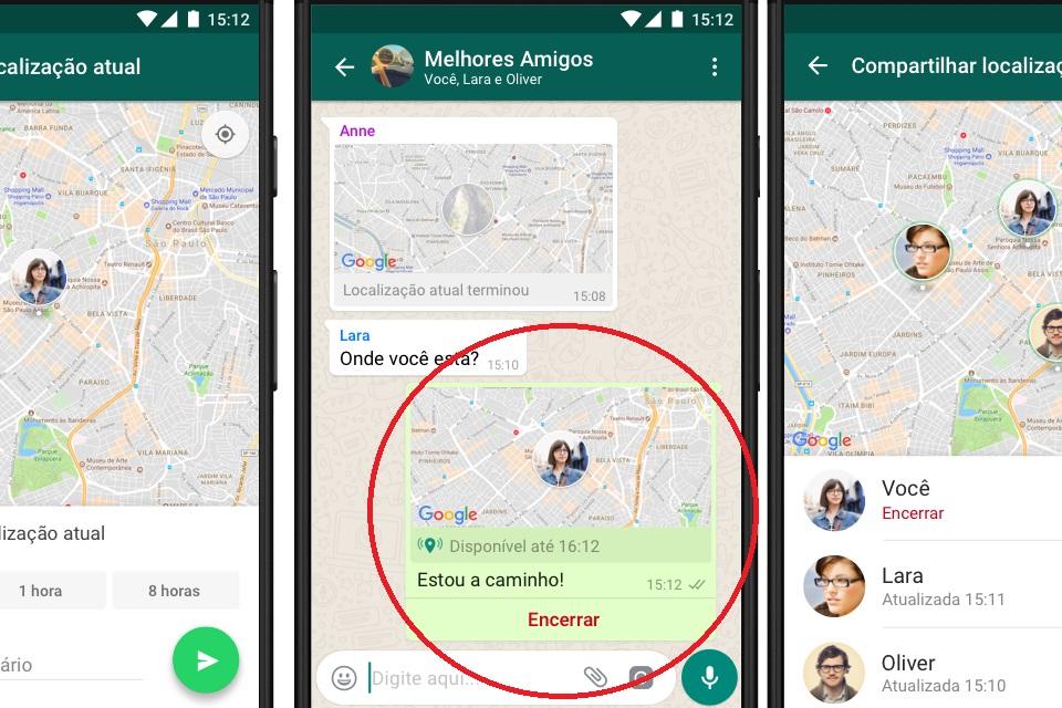 como saber a localização de um celular pelo whatsapp