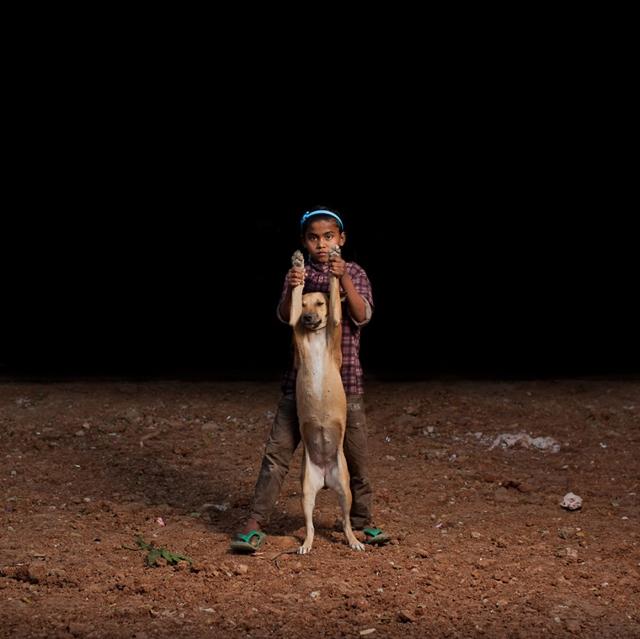 Osman e seu cão Tiger