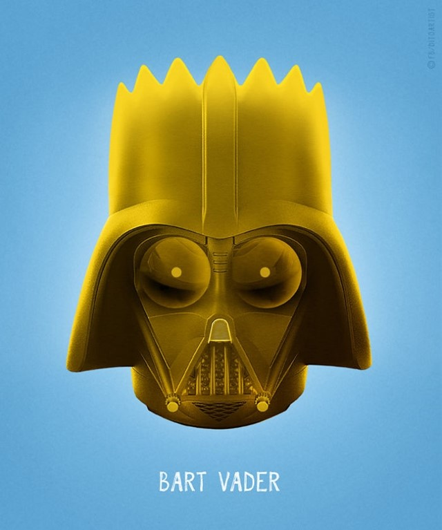 Bart Simpson + Darth Vader