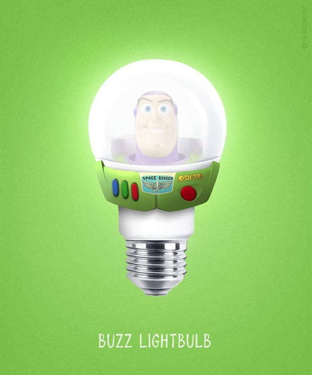 Buzz Lightyear + lâmpada