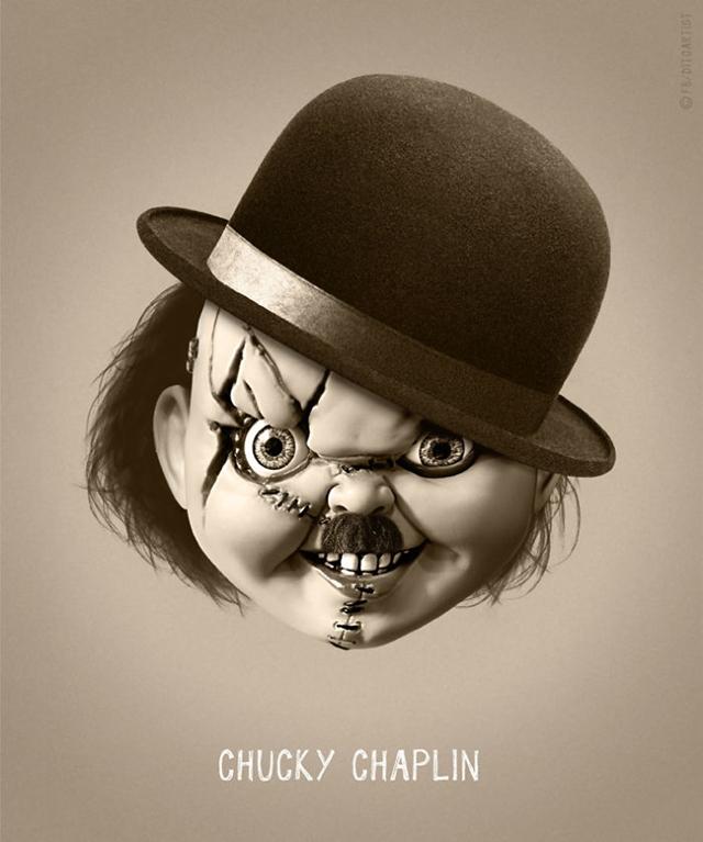 Chucky + Charlie Chaplin