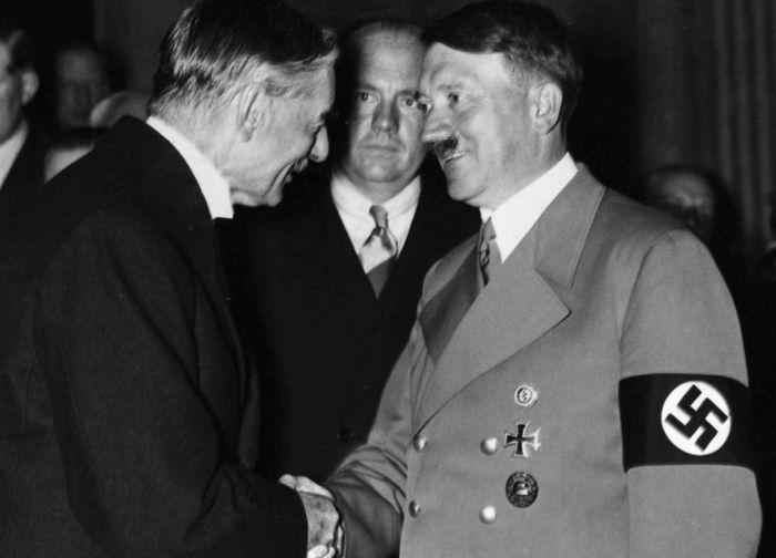 Hitler e Neville Chamberlain