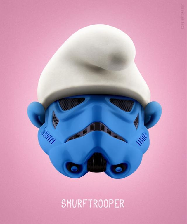 Smurf + Stormtrooper