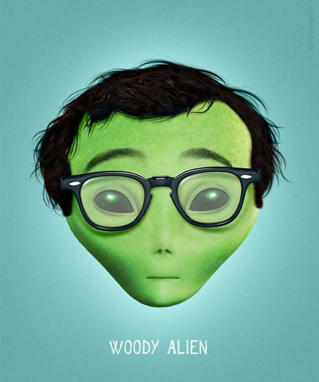 Woody Allen + alien