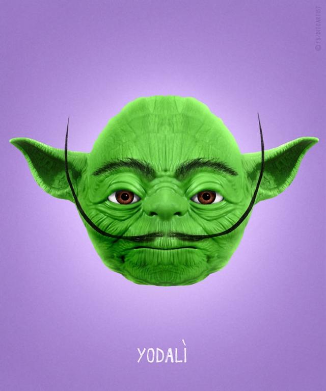 Yoda + Salvador Dalí