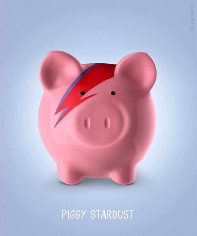Ziggy Stardust + porquinho