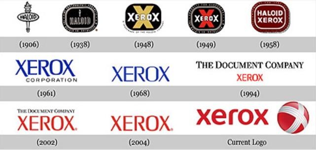 Uma série de logomarcas.