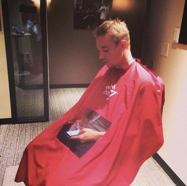 cabeleireiro com visor