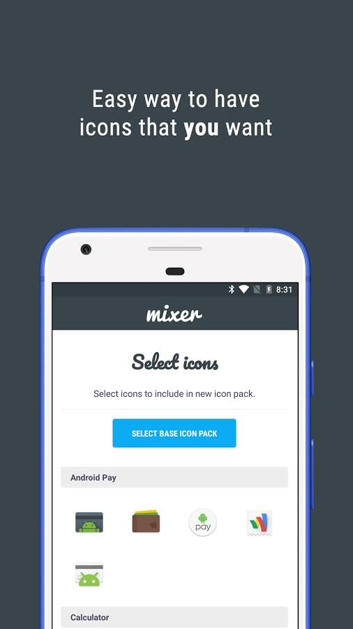 Icon Pack Mixer - Imagem 2 do software