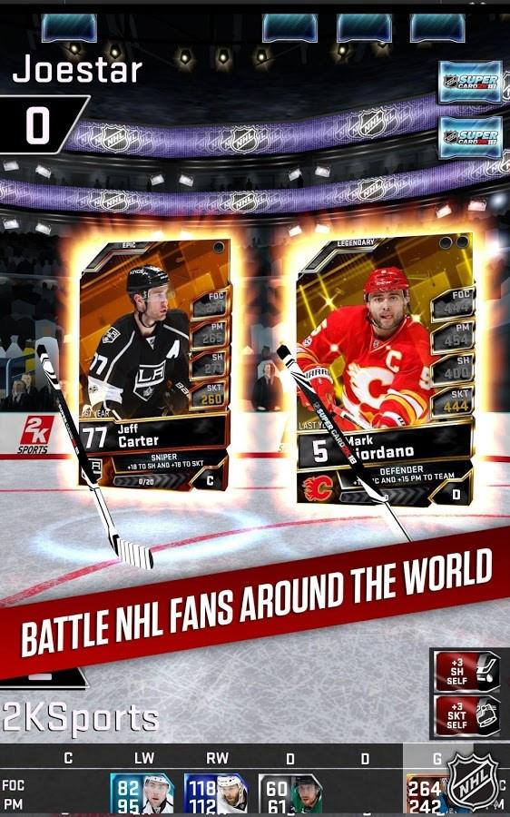 NHL SuperCard 2K18 - Imagem 2 do software